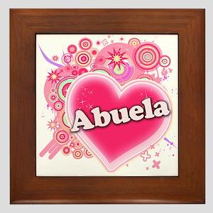 Abuela Heart Art Framed Tile
