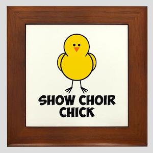 Show Choir Chick Framed Tile