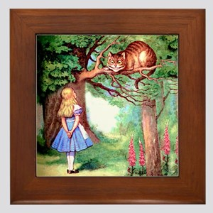 Alice and the Cheshire Cat Framed Tile