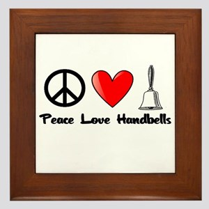Peace, Love, Handbells Framed Tile