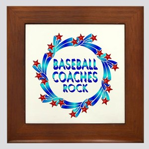 Baseball Coaches Rock Framed Tile