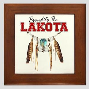 Proud to be Lakota Framed Tile