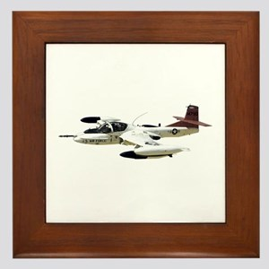 A-37 Dragonfly Aircraft Framed Tile