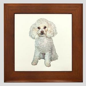 Poodle - Min (W) Framed Tile
