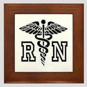 Rn Nurse Caduceus Framed Tile For Graduation