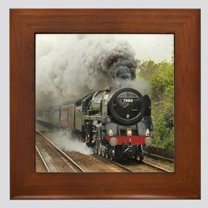 locomotive train engine 2 Framed Tile