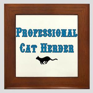 Professional Cat Herder Framed Tile
