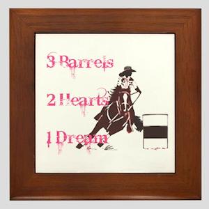 3 Barrels, 2 Hearts, 1 Dream Framed Tile
