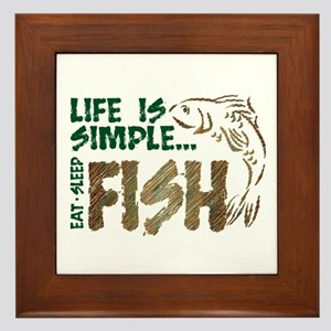 Life Is Simple...FISH Framed Tile