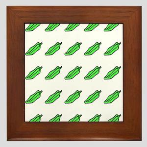 Many Okra Framed Tile