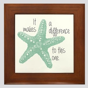 Makes a Difference Framed Tile