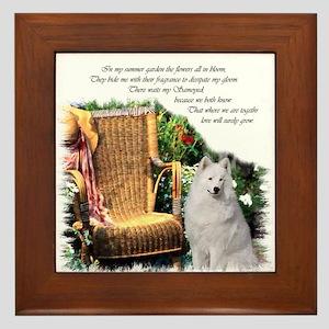 Samoyed Art Framed Tile