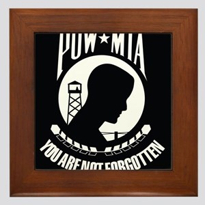 POW MIA Framed Tile