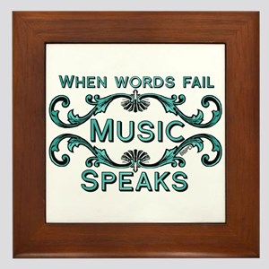 Music Speaks Framed Tile