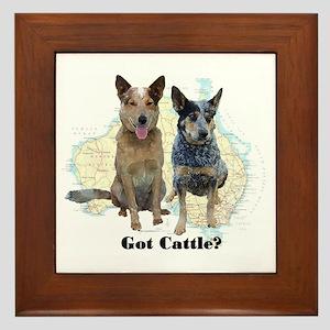 Got Cattle? Framed Tile