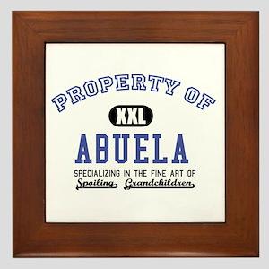Property of Abuela Framed Tile