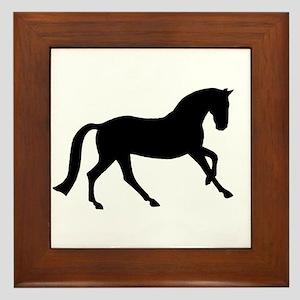 Cantering Horse Framed Tile
