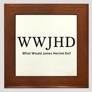 What Would James Herriot Do? Framed Tile