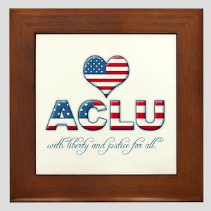 I <3 ACLU Framed Tile