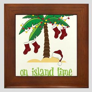 On Island Time Framed Tile