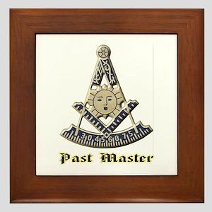A F & A M Past Master Framed Tile