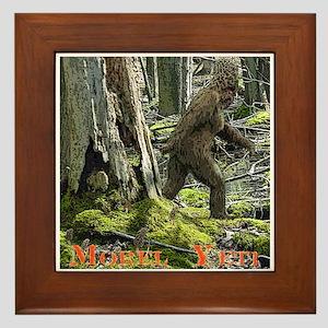 Morel Yeti Big foot gifts Framed Tile