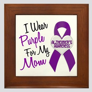 I Wear Purple For My Mom 18 (AD) Framed Tile