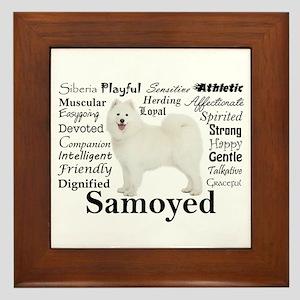Samoyed Traits Framed Tile
