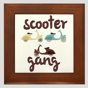Scooter Gang Framed Tile