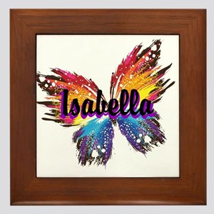 Personalize Butterfly Framed Tile
