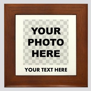 Your Photo And Text Framed Tile