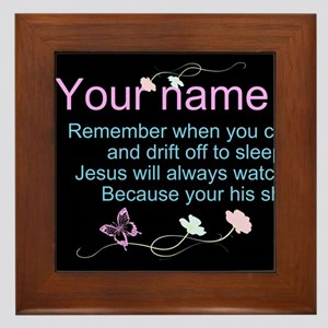 Personalize His Sheep Framed Tile