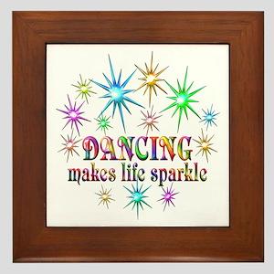 Dancing Sparkles Framed Tile