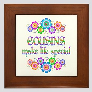 Cousins Make Life Special Framed Tile