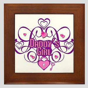 Daddy's Girl Pink/Fuschia Framed Tile