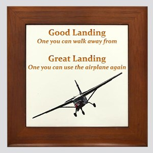 Good Landing/Great Landing Framed Tile