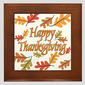 Happy Thanksgiving Framed Tile