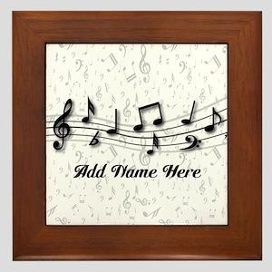 Personalized Musical Notes design Framed Tile