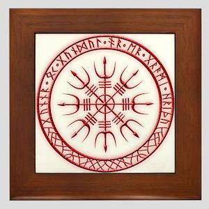 Aegishjalmur: Viking Protection Rune Framed Tile