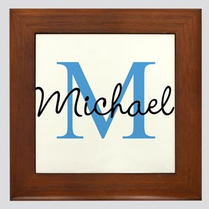 Personalize Iniital, And Name Framed Tile