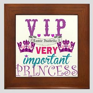 Vip Princess Personalize Framed Tile