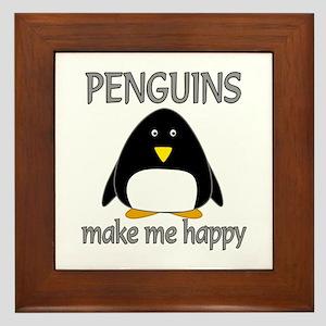 Penguin Happy Framed Tile