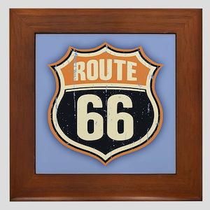 Route 66 -1214 Framed Tile