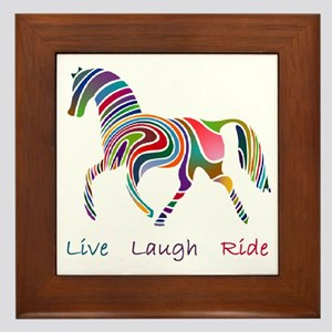 Rainbow horse gift Framed Tile