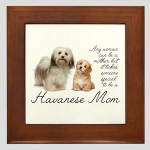 Havanese Mom Framed Tile