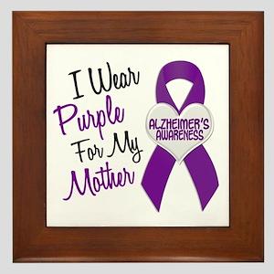 I Wear Purple For My Mother 18 (AD) Framed Tile