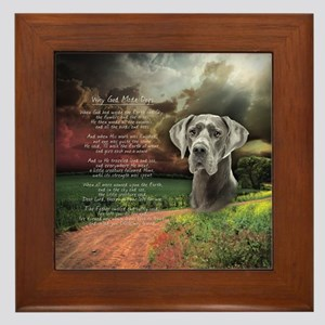 """Why God Made Dogs"" Great Dane Framed Tile"