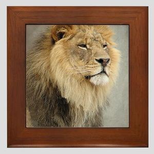 Lion Lovers Framed Tile