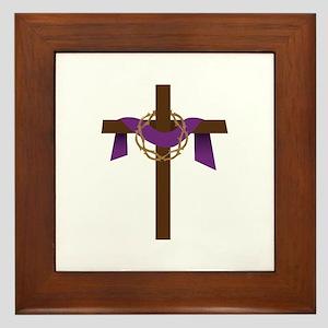 Season Of Lent Cross Framed Tile