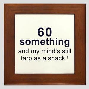 60 Something Framed Tile